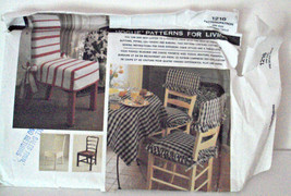 Vogue Patterns for Living 1216 Chair Covers Square Table Topper  Vintage... - $14.95