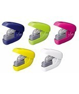 PLUS Paper Clinch Staple-Free Stapler SL-106 Navy Blue Green Pink Yellow... - $9.71