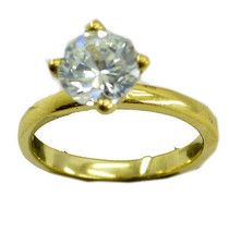 inviting White CZ Gold Plated White Ring gemstone US 6,7,8,9 - $9.99
