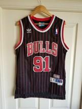 DENNIS RODMAN #91 Chicago Bulls Jersey Throwback Vintage Classic Retro B... - $39.59