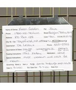3 X 5 Metal Kennel Card Holders Display Pet Care ID Info Vet Dog Shelter... - $45.29+