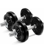 Yes4All Adjustable Cast Iron Dumbbells 30lb each 60lb total D1IBZ - $179.99