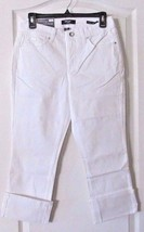 Nine West TAYLOR Wide Cuff Jean Capri White Women's Sz 4-16 NWT Incredib... - $29.35
