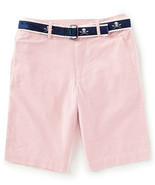 Ralph Lauren Childrenswear Boys Slim Fit Belted Stretch Shorts Pink 18 - $29.69