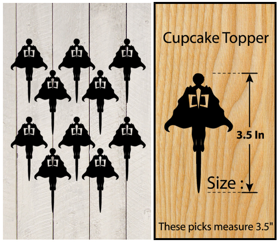 Ca349 Decorations cupcake toppers the greatest american hero silhouette : 10 pcs