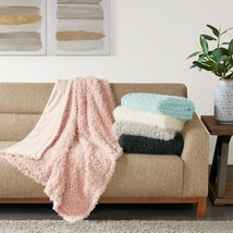 "Luxury Solid Faux Mohair Reversible Throw - 50x60"" - 5 COLORS - $857,87 MXN"