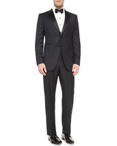 NWT GIORGIO ARMANI 58L/48L tuxedo formal $3,195 suit wool satin trimmed ... - $979.99
