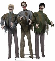 HALLOWEEN ANIMATED LIFE SIZE WALKING DEAD ZOMBIE HORDE PROP DECORATION S... - $168.95