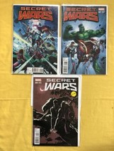 Lot of 3 Secret Wars (2015 3rd Series) #1 3 with variants VF Very Fine - $17.82