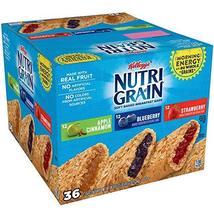 Kellogg's Nutri-Grain Bars Variety Pack (1.3 oz. bar, 36 ct.) AS - $31.54