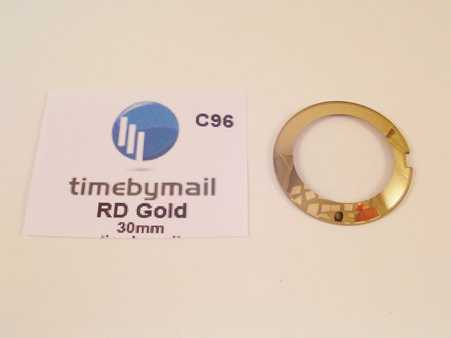 For RADO COUPOLE 30mm Gold Watch Glass Crystal Replacement New Spare Part C96