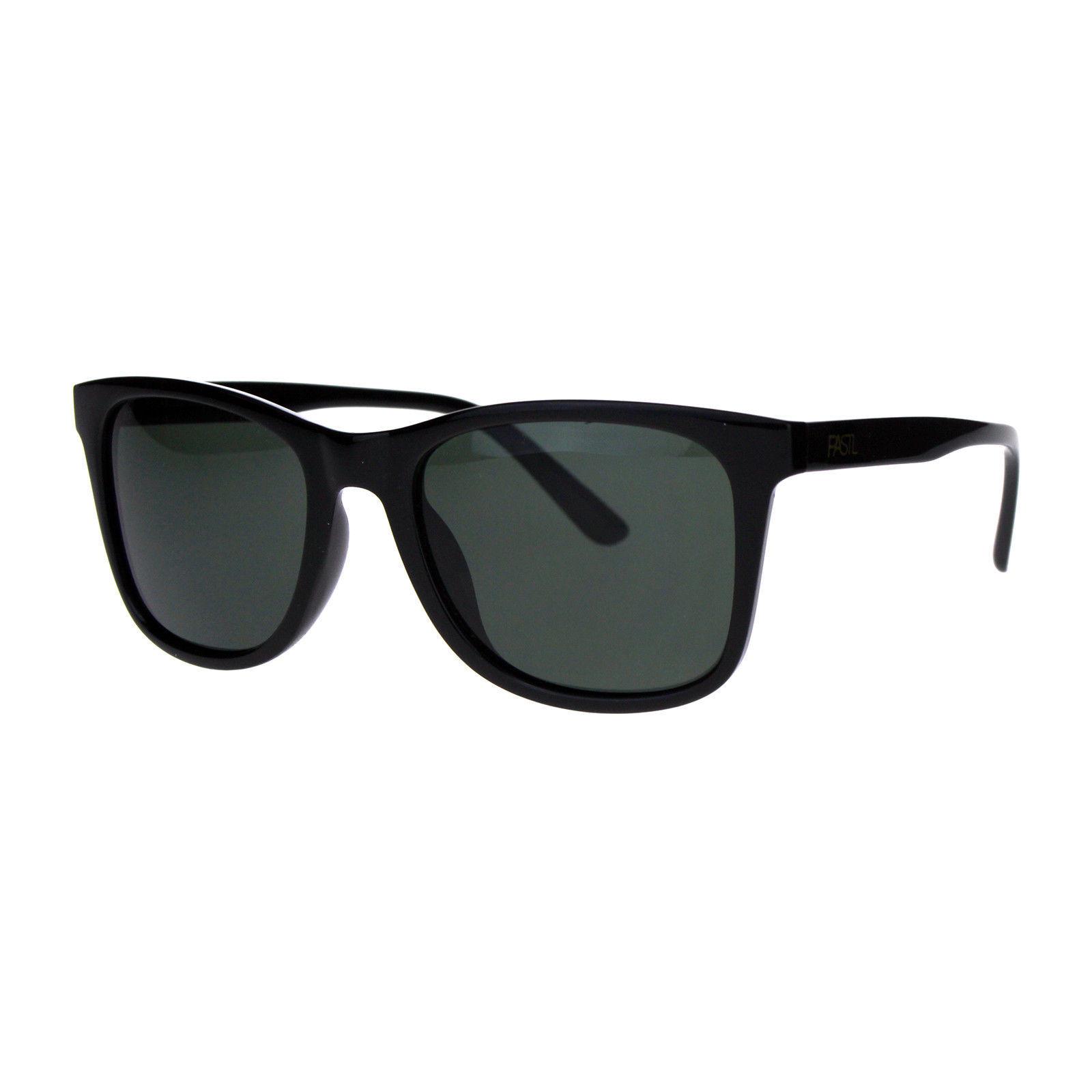 PASTL Sunglasses Polarized Lens Classics Square Designer Fashion Shades Black