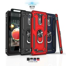 for LG REBEL 4 LTE, [Ring Series] Phone Case Metal Ring Cover +Tempered ... - $22.00
