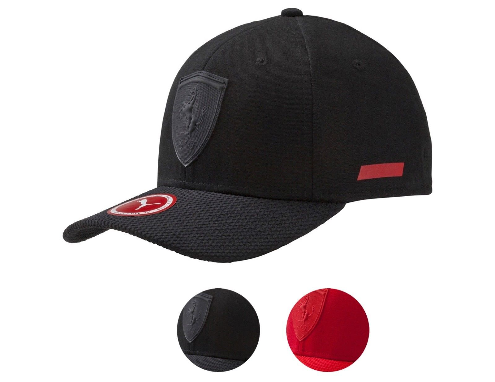 02e6740d686 ... switzerland puma ferrari mens stretch fit baseball sport trucker hat cap  052906 44504 feae4