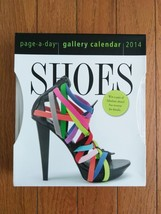 NIP New Page-A-Day Gallery Desk Calendar Shoe Pictures Beautiful Art 201... - $15.00