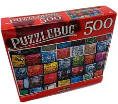 Colorful Lacquerware Plates - Puzzle - 500 Pc - New - $4.70