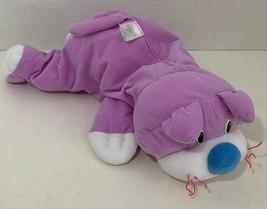 Fisher Price Rumple Cat Plush purple white kitty stuffed animal blue nos... - $16.82