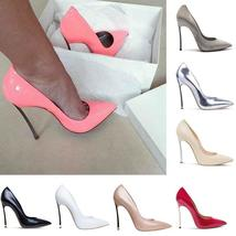 12 Colors Women Fashion Stiletto Shoes Elegant Ladies High Heeled Shoes Pointed
