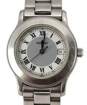 Movado Women's Ladies Museum 84 E4 1833 Black Face Watch Stainless Steel Swiss - $199.95