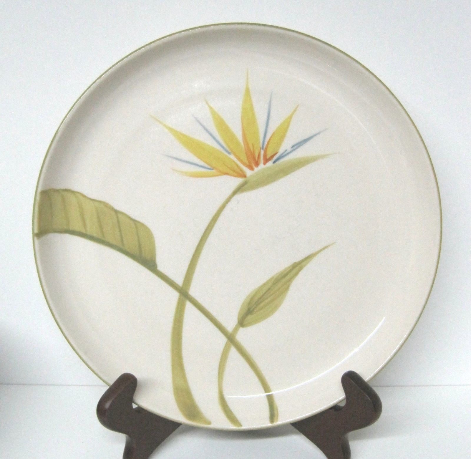 "Primary image for Bird of Paradise Winfield China Pottery California Dinner Plate 10 1/4 "" NICE"