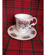 Christmas Holly and Ribbon Cup and Saucer Sets - Six (6) Available - $8.00