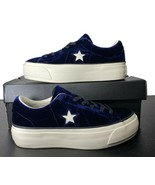 Converse One Star Platform Ox Lift Sneaker Suede Eclipse Blue 558952C 6.... - $69.95