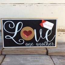 AGD Valentines Decor - Red Heart Love One Another John 13:34 - $15.95