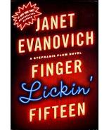 Janet Evanovich Finger Lickin' Fifteen Stephanie Plum Novel Hardcover Book  - $4.00