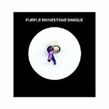 PURPLE  Rhinestone RIBBON  Nail Art Dangle Jewelry - $3.85