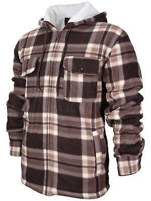 Men's Heavyweight Zip Up Fleece Lined Sherpa Hoodie Jacket Size XL New /w Defect