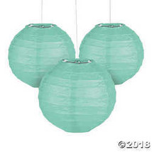 Mini Mint Green Hanging Paper Lanterns - $14.99