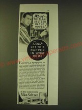 1938 Alka-Seltzer Tablets Ad - What - no Alka-Seltzer in the house! - $14.99