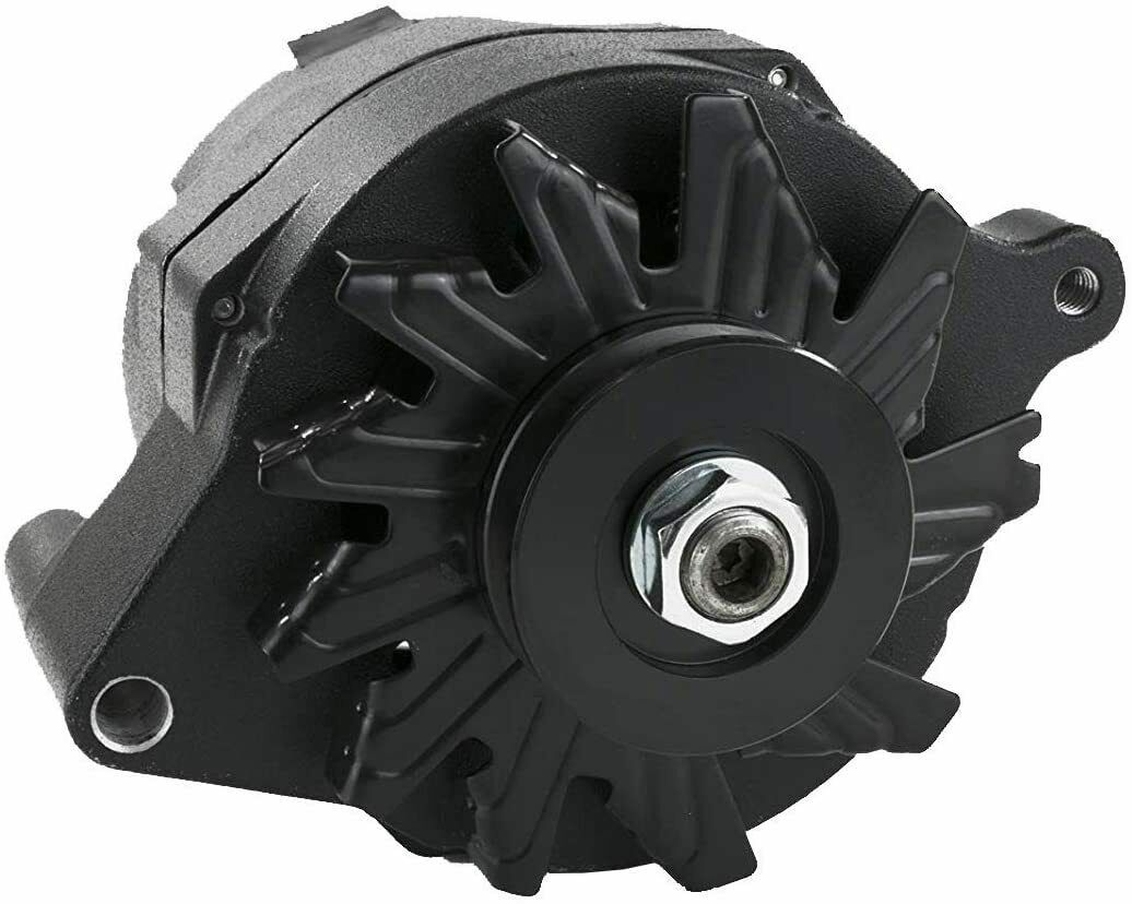 Ford 1G Style 110 Amp for Alternator for Hot Rod and Muscle Car AMC All Black