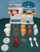 Vtg. Fisher Price Fun w/Food #2118 McDonald's Soda Fountain Comp/EXC++-N... - $115.00