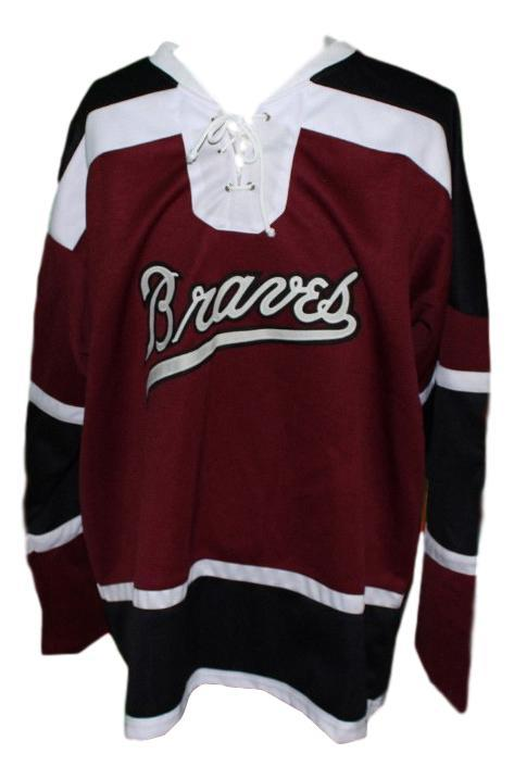 Boston braves retro hockey jersey 1970 maroon   1