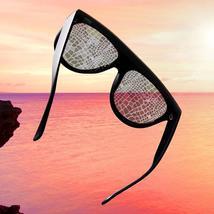 Sexy square sunglasses ladies fashion python pattern oversized sunglasses men an image 6