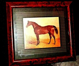Wood framed Picture of Horse AA20-2343BB Vintage