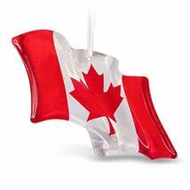 Hallmark Keepsake Christmas Ornament 2019 Canadian Pride Flag Glass Canada - $14.37