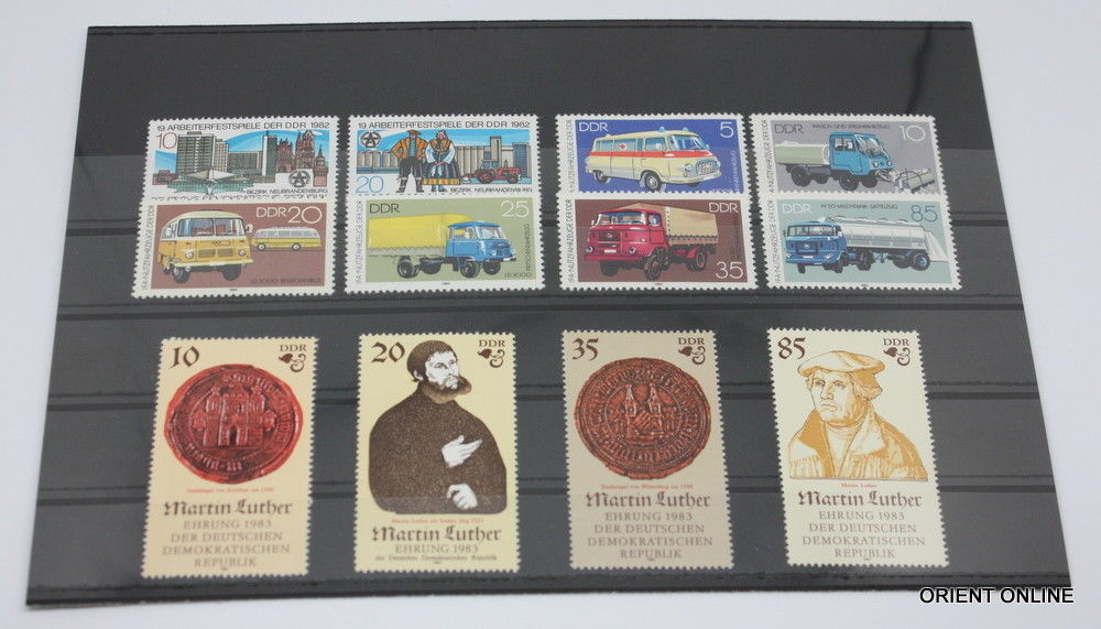 German DDR 1982 SC#2232-2311, Stamps, 70 Pieces/20 Set, Mint Never Hinged, VF