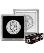 Box 25 BCW 2X2 COIN SNAP - HALF DOLLAR - BLACK - Premium Long-term Stora... - $10.88