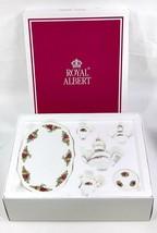 Vintage Royal Albert Old Country Roses Miniature Tea Set NEW in Box Roya... - $93.09