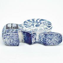 """Crafts Caravan Hand Carved Soapstone """"Denim Blue"""" Lion Figurine Made in Kenya image 6"""
