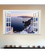 Greece Sea Bay 3D Window View Removable Wall Sticker Art PVC Decal Decor... - $17.37