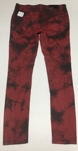 Forever 21 Denim Skinny Jeans Sz 27 x 31 Red & Black Tie Dyed  image 5