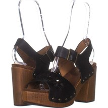 White Mountain Altheda Buckle Sandals 416, Black/Smooth, 8.5 US - $25.91