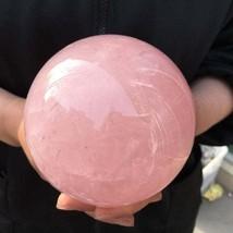 1000g - 1600g Beautiful Natural Rose Quartz Sphere Pink Crystal Ball Hea... - $179.99