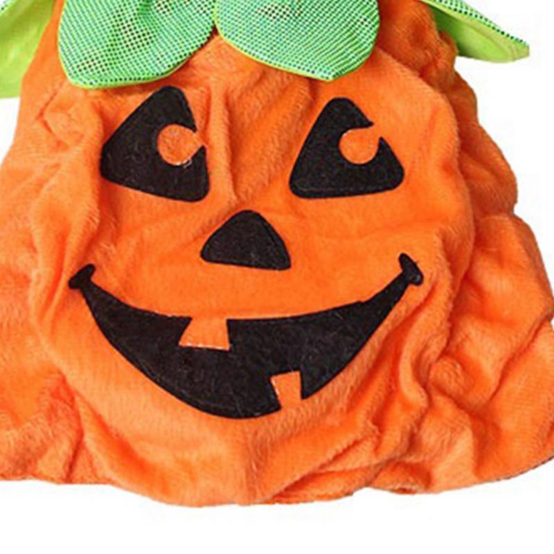 Pet Halloween Pumkin Costume Adjustable Hat Puppy Cat Clothes Party Apparel Vest