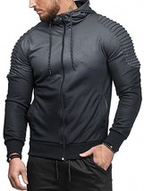 Sports Full Zipper Gradient Print Shoulder(DARK GRAY L) - $22.22