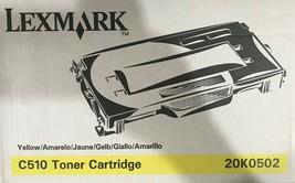 LEXMARK C510 20K0502 YELLOW TONER CARTRIDGE - $49.95