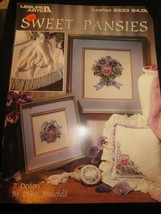 Leisure Arts Leaflet 2233 Sweet Pansies 7 Designs by Diane Brakefield Used - $4.99